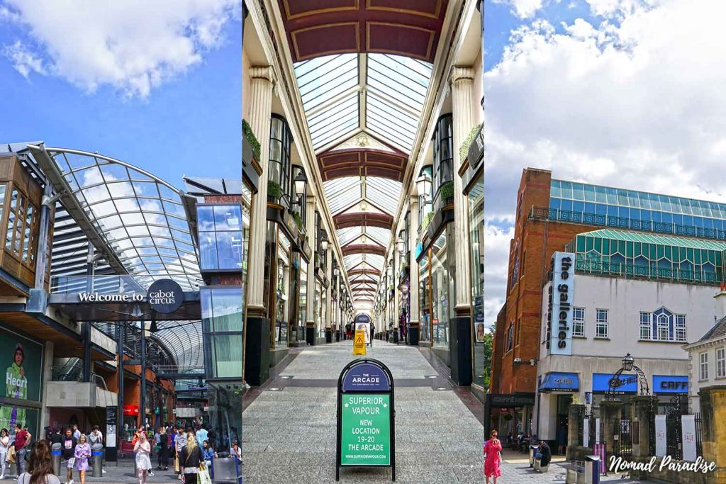 cabot circus the arcade the galleries shopping bristol