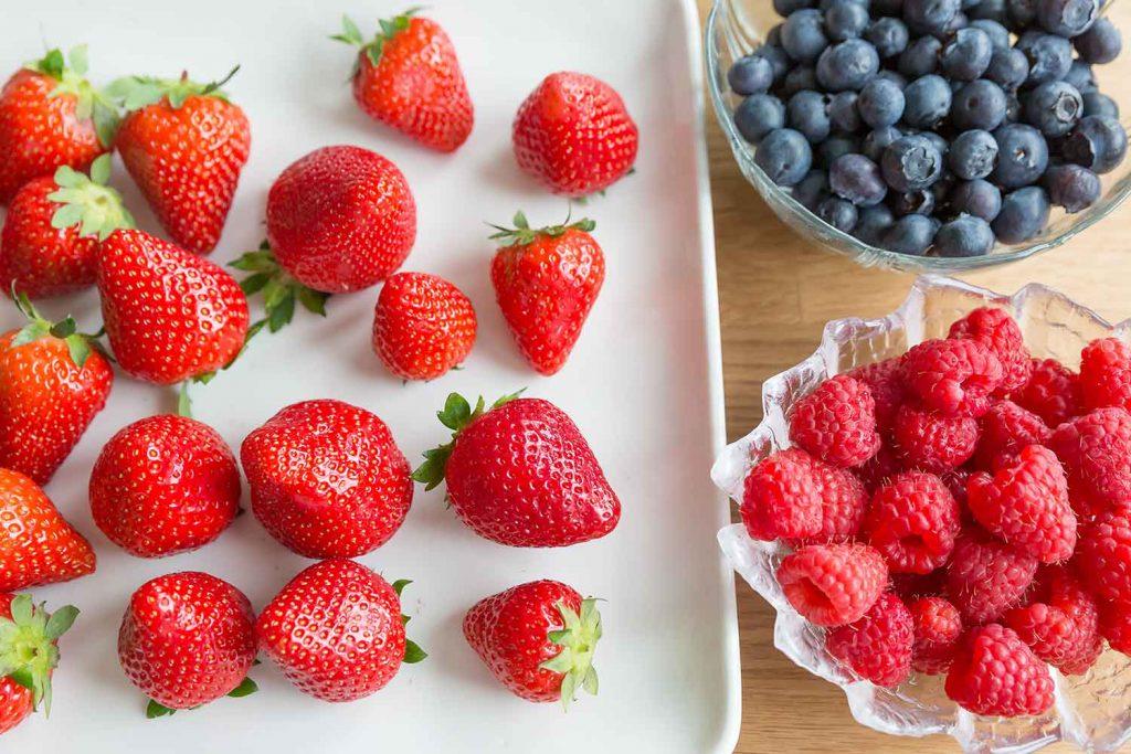 fresh berries sweden strawberries blueberries raspberries