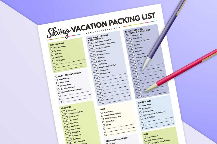 The Ultimate Ski Trip Packing List (60 Things You Should Pack)