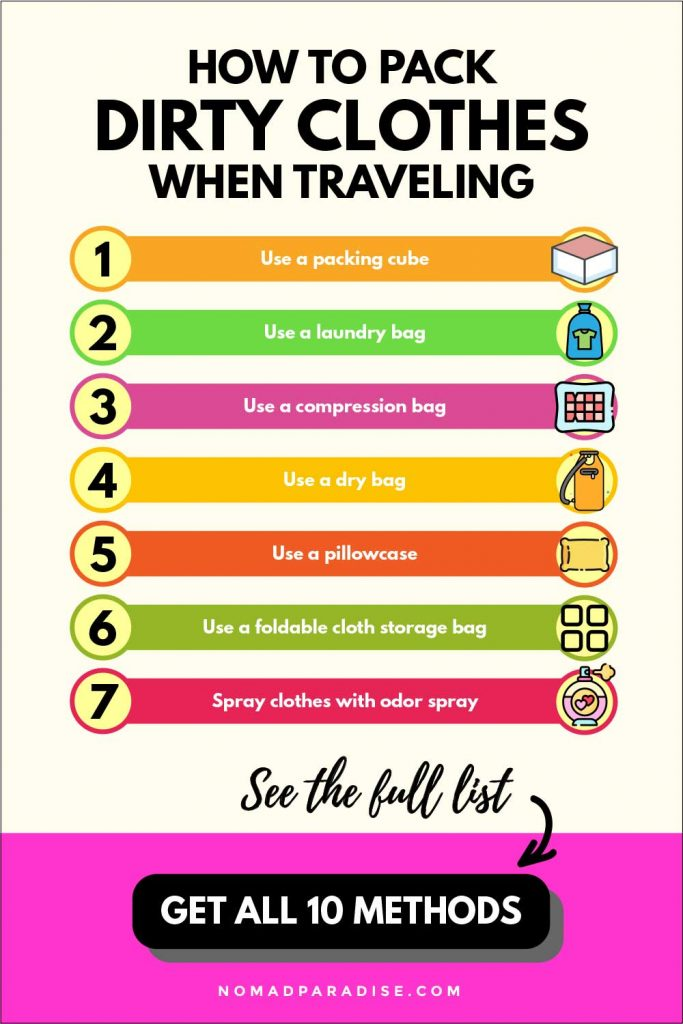 how to pack dirty clothes when traveling