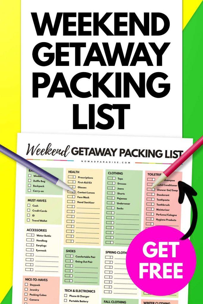 Weekend Getaway Packing List (Image)